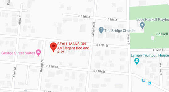 Map Beall Mansion Bed and Breakfast Inn
